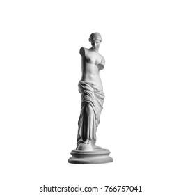 Venus statue on a white background