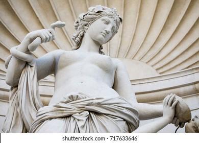 Venus statue, unity square or Piazza unità d'Italia, close to the city hall palace, Triest.