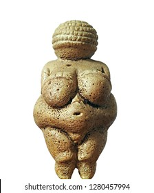 Venus of Willendorf - Prehistoric figurine representing early fertility fetish, body image, perhaps a Mother Goddess from Upper Paleolithic Europe - replica of detailed texture and abstract early art