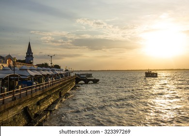 Ver o Peso Market in Belem and the Sea with the Sunset - Brazil
