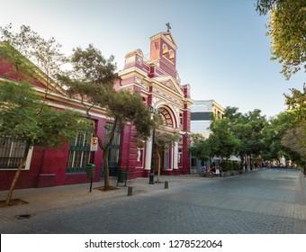 Vera Cruz Parish Church at Lastarria neighborhood - Santiago, Chile