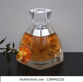 Vera Wang fragrance for ladies large perfume bottle-Kassel Germany 09.15. 2018 Vera Wang is an American fashion designer. In 2002 her first own perfume was released, developed by Delville + H. Fremont