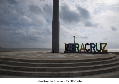 VERACRUZ- VERACRUZ: JULIO- 2017: Malecon of the port of Veracruz.
