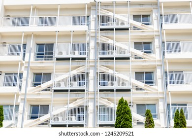 Veranda of high-rise residential area