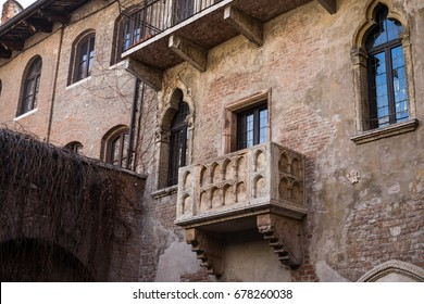 The veranda of Juliet's house, Verona, Italy