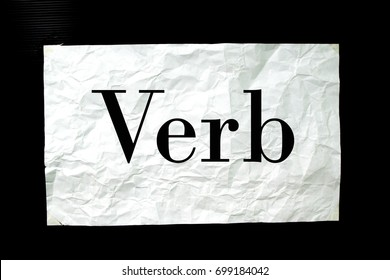 Verb on paper