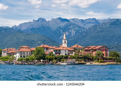 Verbano, Italy, July 9, 2012: Isola Pescatore, also known as Isola Superiore, one of the three principal Borromean Islands on Lake Maggiore.