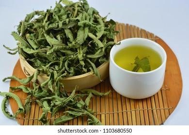 Verbena tea and verbena tea leaves