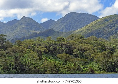 Verdant Volcanic Peaks in the Tropics by Lake Arenal in Costa Rica