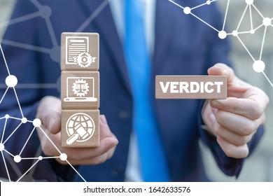 Verdict Justice Auction Law Legislation Concept.