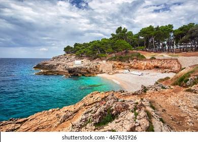 Verduela Beach, Pula Croatia, Croatia Rocky Beaches Landscape