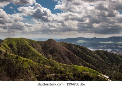 Verdugo Mountains, Burbank -  view to downtown Los Angeles and San Fernando Valley