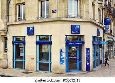 VERDUN, FRANCE - AUGUST 16, 2017: Branch of Banque Populaire. Groupe Banque Populaire is a French group of cooperative banks.