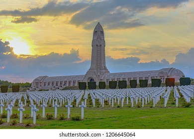 VERDUN,FRANCE-SEPTEMBER 05,2018:Cemetery and memorials in Verdun.