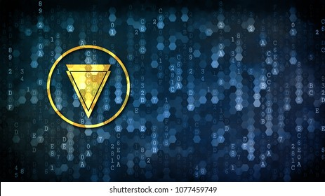Verge - Coin Image on Dark Digital Background. Virtual Currency Concept.