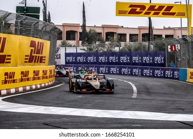 Jean-Éric Vergne, (DS Techeetah) during the 2020 ABB Formula E Marrakesh E-Prix in Marrakesh, Morocco 28/02/2020-01/03/2020