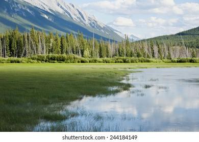 Vermilion Lake in Banff National Park, Canada