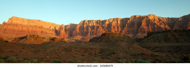 The Vermillion Cliffs at sunrise