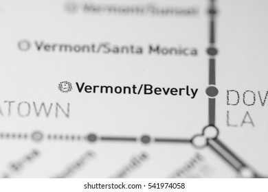 Vermont/Beverly Station. Los Angeles Metro map.