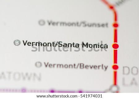 Vermont Santa Monica Station Los Angeles Metro Stock Photo Edit Now