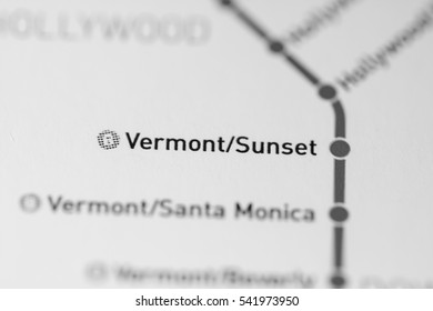 Vermont/Sunset Station. Los Angeles Metro map.