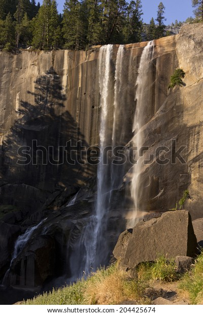 Vernal fall at dusk in summer, Yosemite