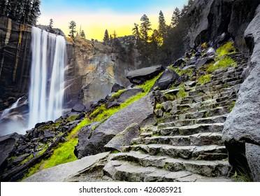 Vernal Falls at Dawn, Yosemite National Park, California USA