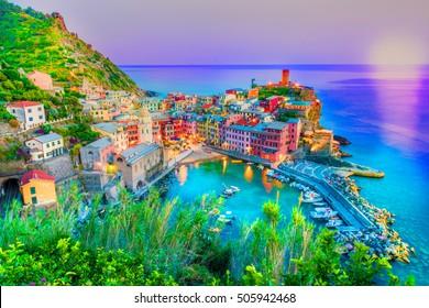 Vernaza village, Cinque Terre, Liguria, Italy, Europe