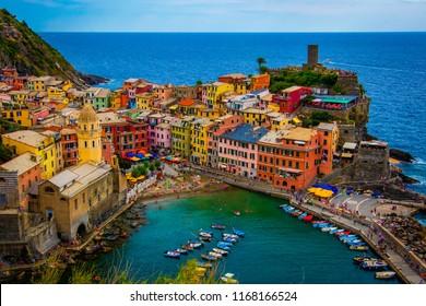 Vernazza Cinque Terre, Italy Close Up