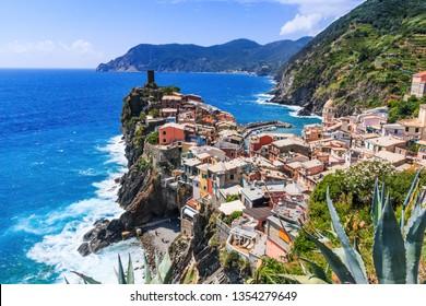 Vernazza, Cinque Terre . Lanscape of Vernazza in Cinque Terre, Italy.