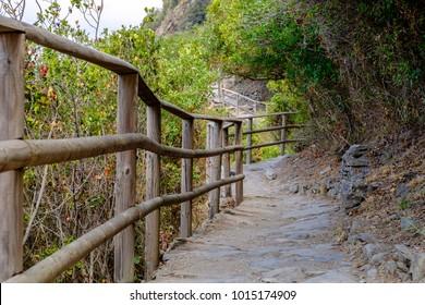 Vernazza - Corniglia Path in Cinque Terre National Park, Liguria, Italy.