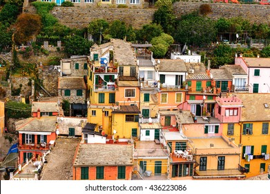 VERNAZZA, ITALY - MAY 5, 2016: Beatiful view of Vernazza (Vulnetia), a small town in province of La Spezia, Liguria, Italy. It's one of the lands of Cinque Terre, UNESCO World Heritage Site
