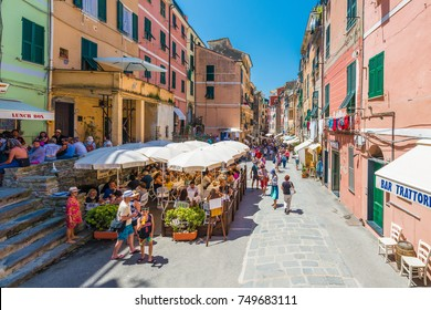 VERNAZZA, IT - JUNE 26, 2016: Vernazza village within Cinque Terre in Liguria Region, Northern Italy.