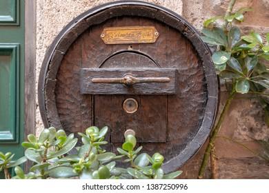 VERNAZZA, LIGURIA/ITALY  - APRIL 20 : Unusual letter box in Vernazza Liguria Italy on April 20, 2019