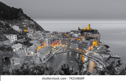 Vernazza at night Cinque Terre Liguria Italy Fine Art.