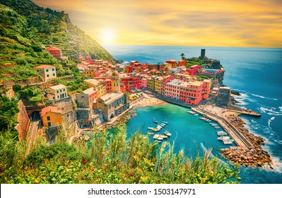 Vernazza - One of five cities in cinque terre, Italy