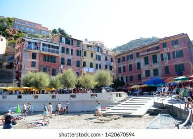 VERNAZZA,LE CINQUE TERRE,LIGURIA.ITALIA.  August 2017 Different views of the villa of Vernazza, in the area of Liguria.Fantasticas villas of Le Cinque Terre in Italy