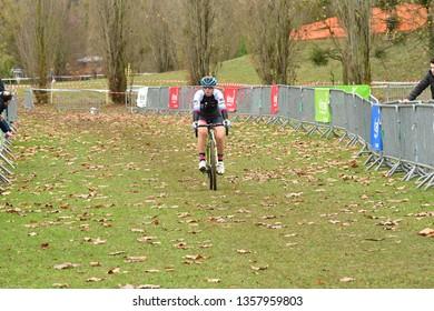 Verneuil sur Seine, France - december 2 2018 : cyclo cross, cup of Ile de France