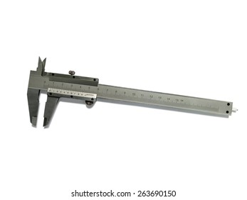 Vernier caliper (slide gauge) isolated on white background with clipping path