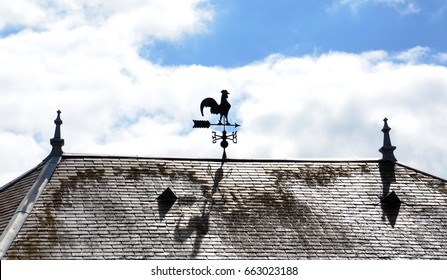 VERNON, FRANCE - AUG 5:  A weathervane, visible from the train station in Vernon France, is shown here on August 5, 2016.