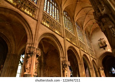 Vernon, France - july 27 2018 : the gothic collegiate church