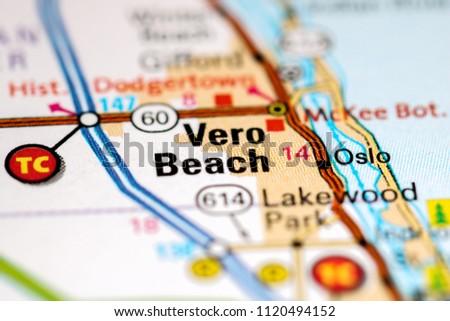 Vero Beach Florida Map.Vero Beach Florida Usa On Map Stock Photo Edit Now 1120494152