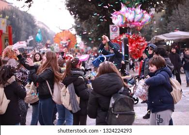 Verona 02/09/2018 Carnival on the streets of the city of Verona