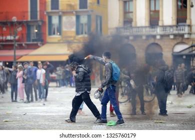 Verona, 02/09/2018: Carnival in the streets of Verona