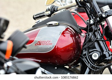 Verona 28, April 2018, Italy - The famous American bike during a vintage motorbike gathering
