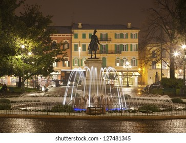 Verona - Fountain from Piazza Bra at night