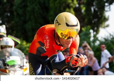 Verona, Italy. 06-02-2019:  Giro d'Italia last stage. Vincenzo Nibali, Italy. Second place.