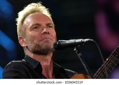 """Verona Italy 09/20/2003, Arena : Sting in concert during the """"Festivalbar 2003"""" musical event."""