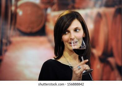 VERONA, ITALY- APR 2010: Vinitaly 2010, International Wine Fair, in Verona Fair, April 08, 2010