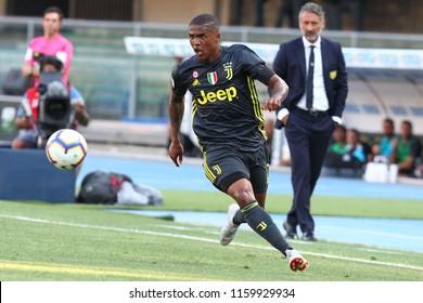 VERONA, ITALY - AUGUST 18,2018: Douglas Costa during football match serie A League 2018/2019 between ChievoVerona vs Juventus at the Bentegodi Stadium in Verona.